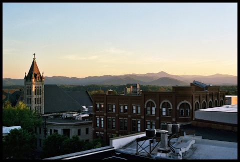 I will never tire of this view. The thing I love about Asheville is the view of the mountains you get from nearly everywhere.