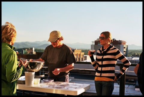 And then on Sunday we went to our first Downlow Dinner on the rooftop of a condo in downtown Asheville.